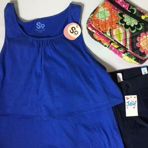 NWT - NEW SO Girl's Crew Neck Tank Top Shirt